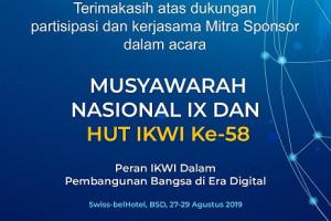 IKWI Gelar HUT Ke 58 dan Musyawarah Nasional 2019