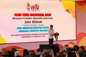 Presiden Jokowi Hadiri Hari Pers Nasional di Kalsel