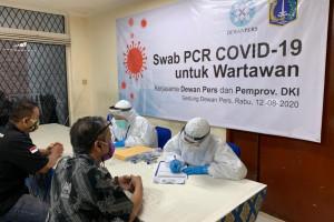 150 Wartawan Dites Swab-PCR di Gedung Dewan Pers