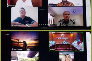 PWI Pusat/Panitia HPN 2021 Audiensi Virtual ke Ketua MPR RI dan Menteri Koperasi UKM