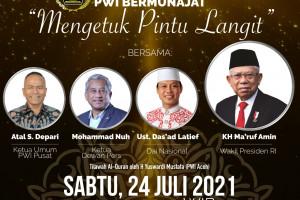 Wakil Presiden KH Ma'ruf Amin dipastikan hadir dalam PWI Bermunajat dengan thema