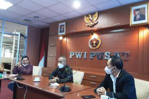 Rapat Virtual PWI Pusat dan Pemprov Sultra, Pastikan Kendari sebagai Tuan Rumah Hari Pers Nasional 2022
